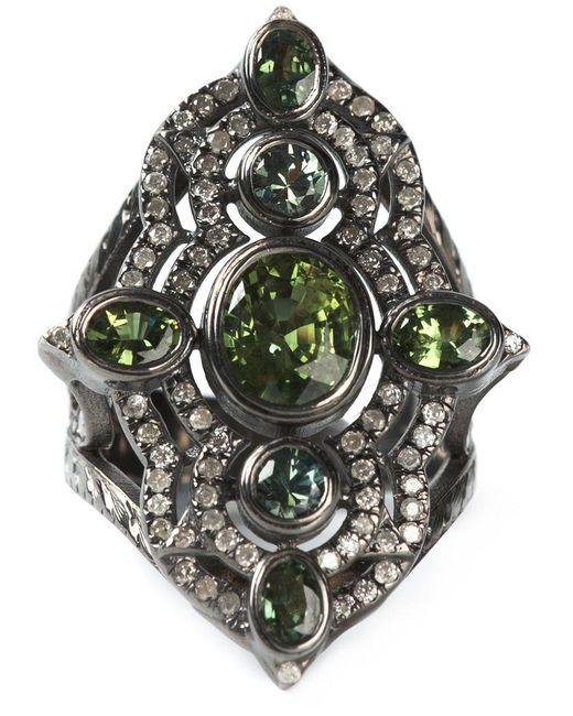 Loree Rodkin - Black Embellished Ring - Lyst