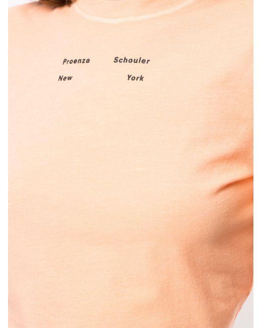 Футболка С Логотипом PROENZA SCHOULER WHITE LABEL, цвет: Orange