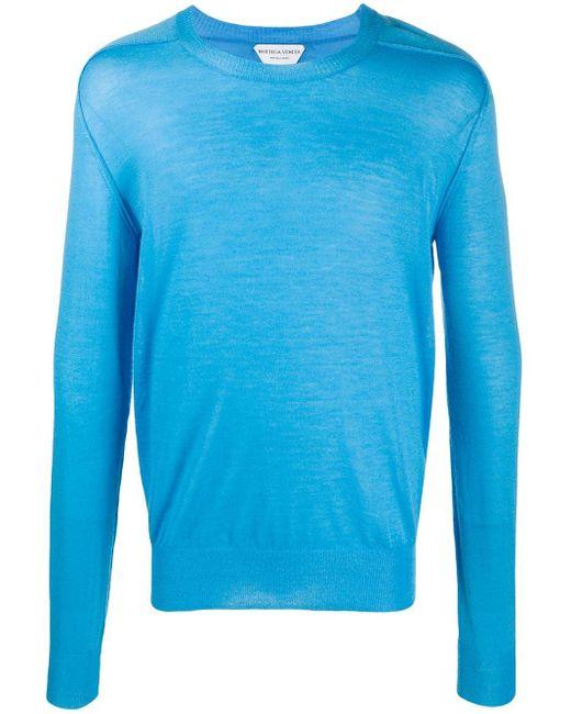 Джемпер С Круглым Вырезом Bottega Veneta для него, цвет: Blue