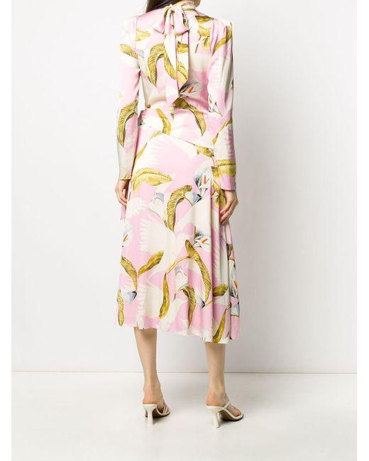 Temperley London Theodora プリント ドレス Pink