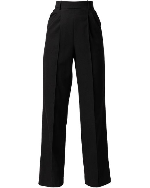 Pantaloni a vita alta di Matériel in Black