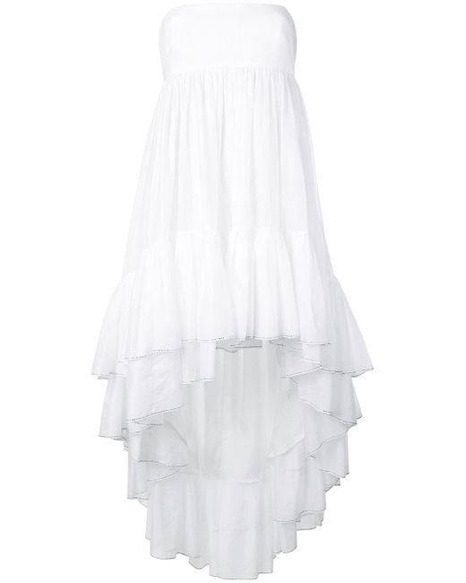 Alexandre Vauthier - White Strapless Babydoll Dress - Lyst
