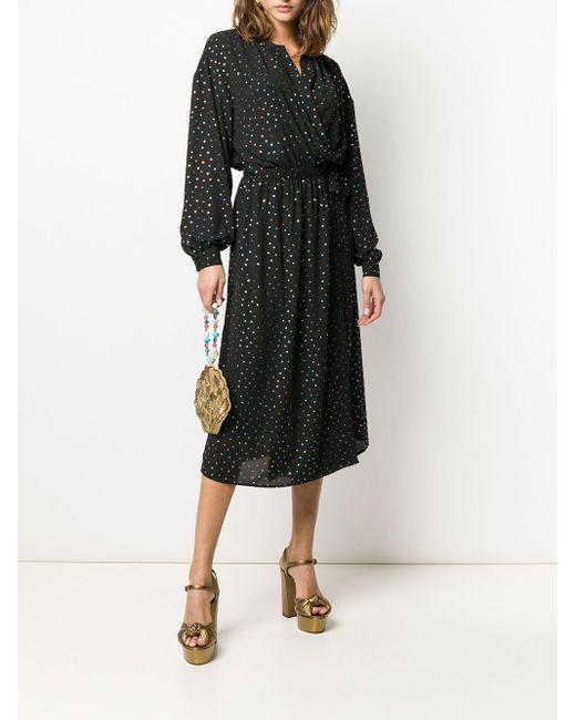 Vestido camisero con estampado de lunares Vida Loca Essentiel Antwerp de color Black
