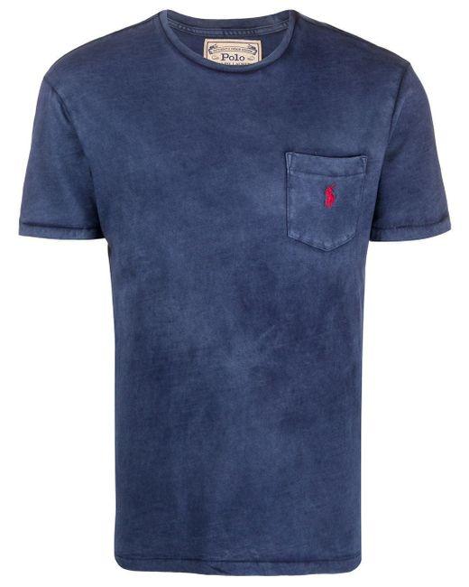 メンズ Polo Ralph Lauren パッチポケット Tシャツ Blue