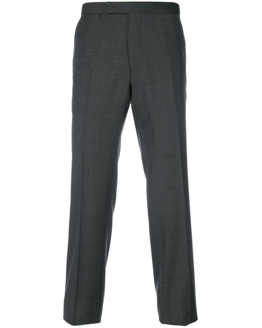 Fashion Clinic Timeless Gray Straight Trousers for men