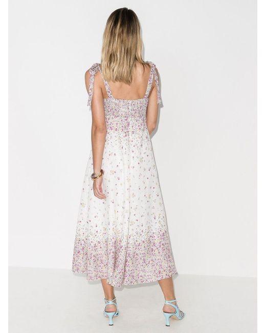 Zimmermann Carnaby プリント ドレス White