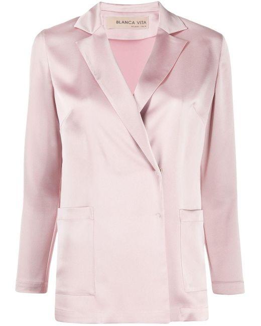 Blanca Vita Gilda サテンジャケット Pink