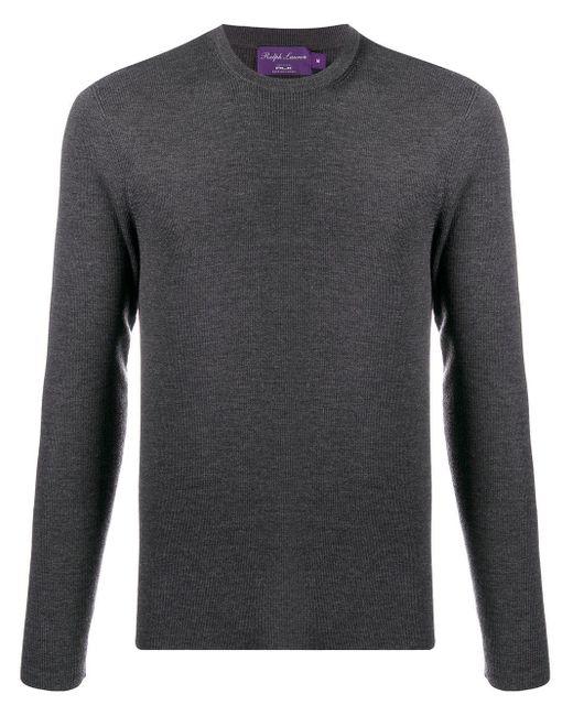 メンズ Ralph Lauren Purple Label ラウンドネック プルオーバー Gray