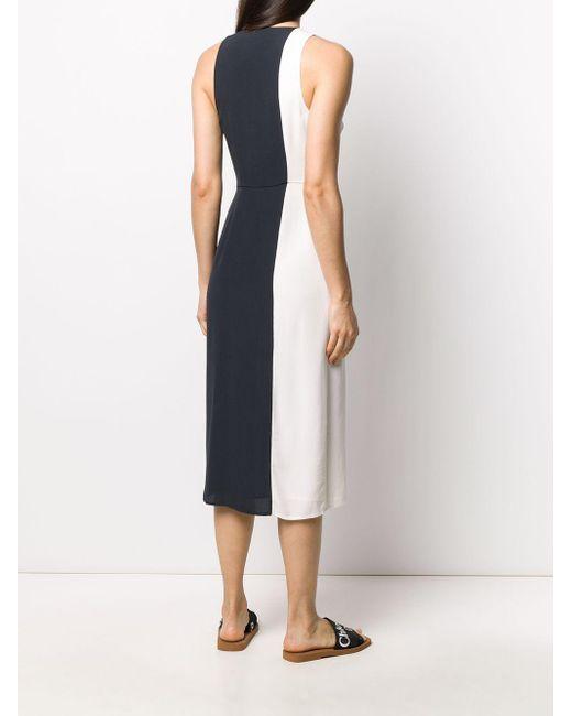 Equipment カラーブロック ドレス White