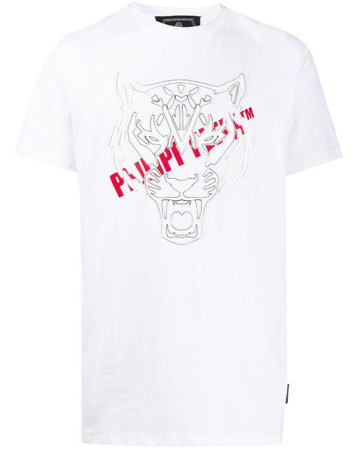 メンズ Philipp Plein タイガー Tシャツ White