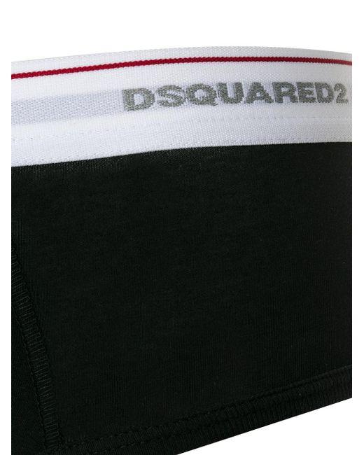 Slip à logo DSquared² pour homme en coloris Black