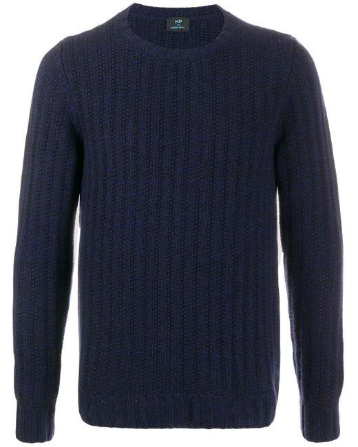 メンズ Mp Massimo Piombo リブニット セーター Blue