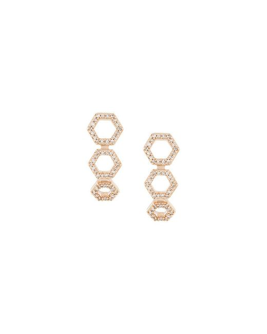 Astley Clarke | Metallic Triple Honeycomb Stud Earrings | Lyst