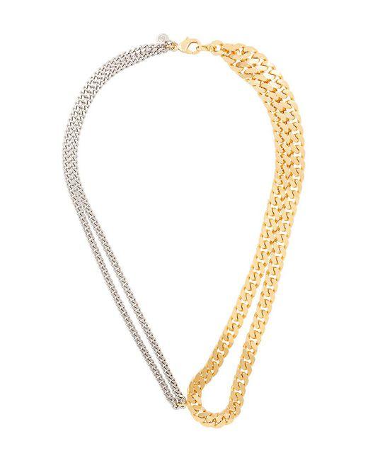MM6 by Maison Martin Margiela - Metallic Mix Chain Necklace - Lyst