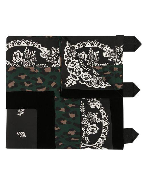 Sacai マルチパターン スカーフ Black