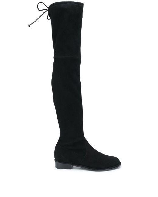 Ботфорты С Завязками Stuart Weitzman, цвет: Black