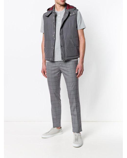 メンズ Eleventy チェック パンツ Gray
