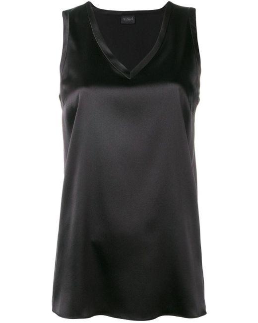 Базовый Топ Без Рукавов Brunello Cucinelli, цвет: Black