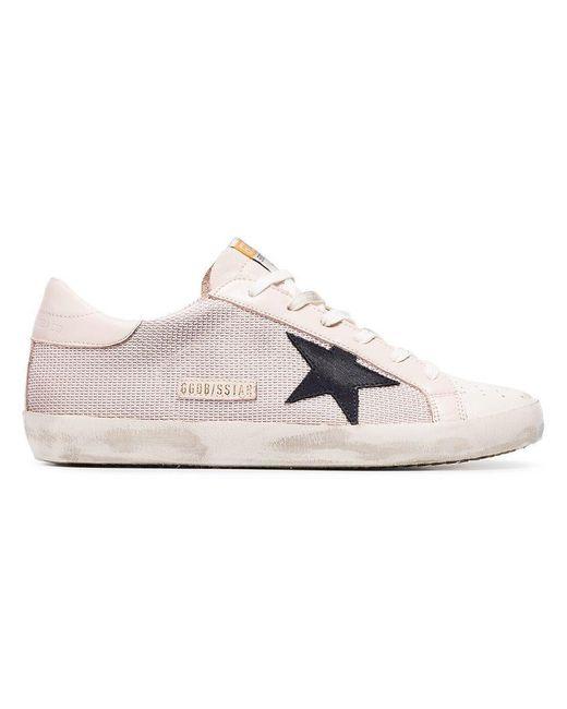 Golden Goose Deluxe Brand - Pink Superstar Mesh Sneakers - Lyst