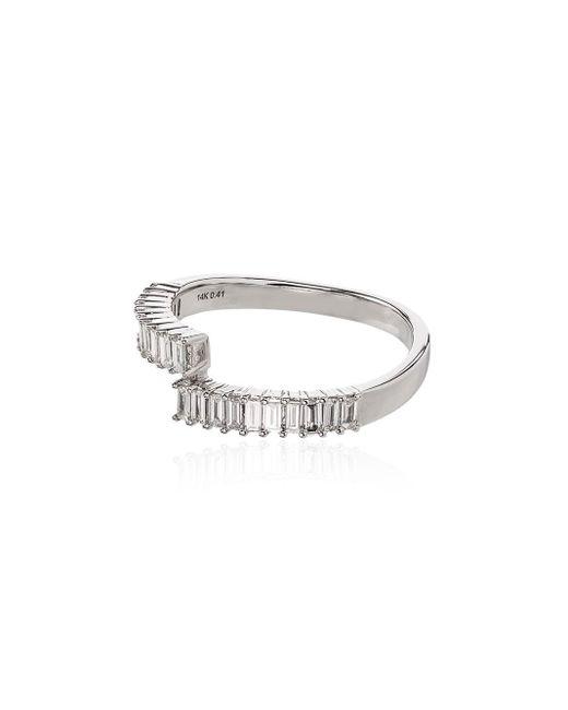 Dana Rebecca Multicolor Sadie Pearl 14kt White Gold Split Diamond Ring