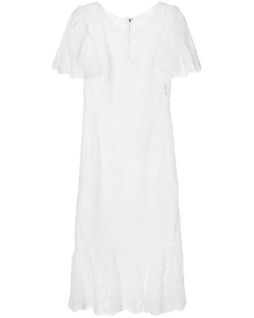 Dolce & Gabbana レース ミディドレス White