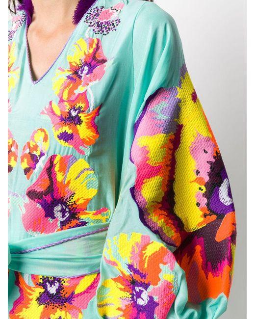 Vestito con applicazioni di Yuliya Magdych in Multicolor