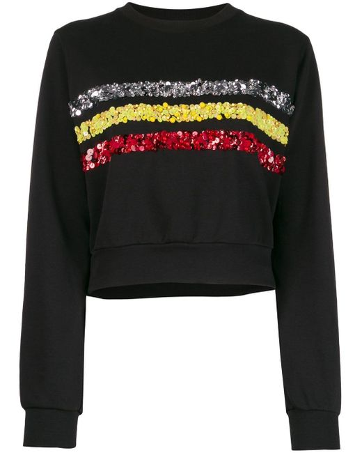 No Ka 'oi Black Rush Sweater With Embroidery