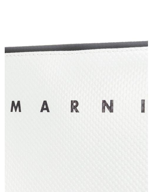 メンズ Marni カラーブロック クラッチバッグ White