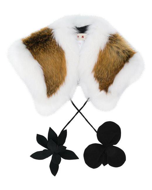 Marni - White Fox Fur Scarf - Lyst