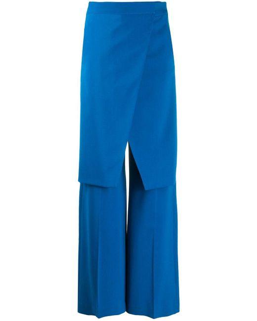 Pantalon droit à design superposé MM6 by Maison Martin Margiela en coloris Blue