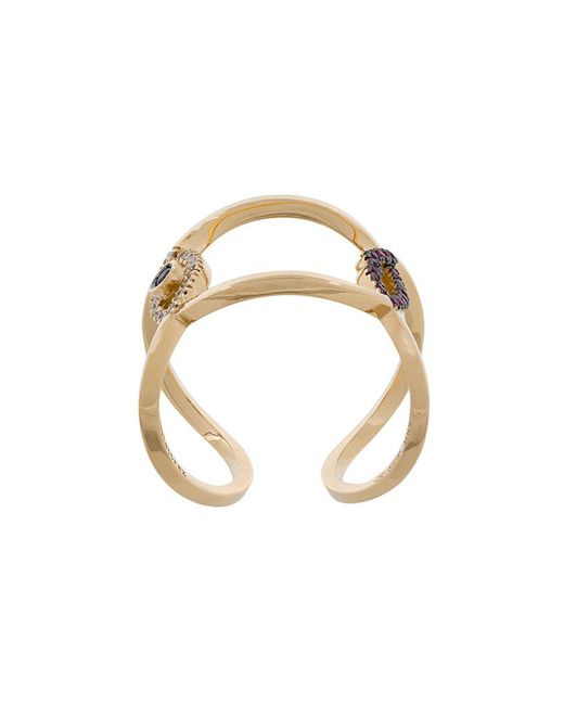 Delfina Delettrez | Metallic Evil Eye Ring | Lyst