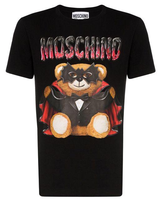 メンズ Moschino Dracula Teddy Tシャツ Black