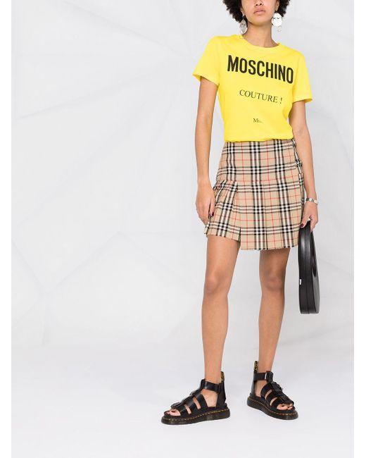 Moschino ロゴ Tシャツ Yellow