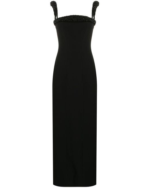 Versace ビーズトリム ドレス Black