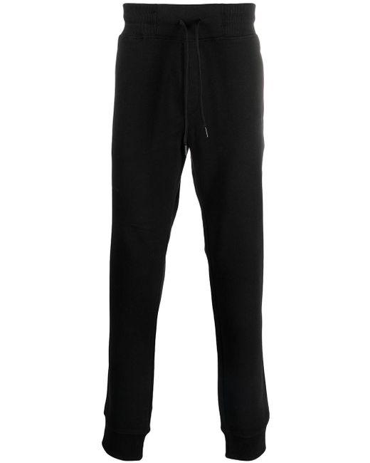 メンズ Versace Jeans ストレート トラックパンツ Black