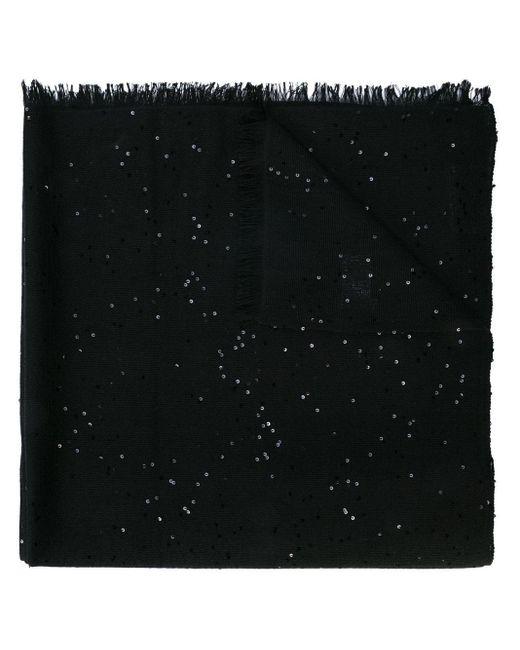 Brunello Cucinelli カシミア スカーフ Black