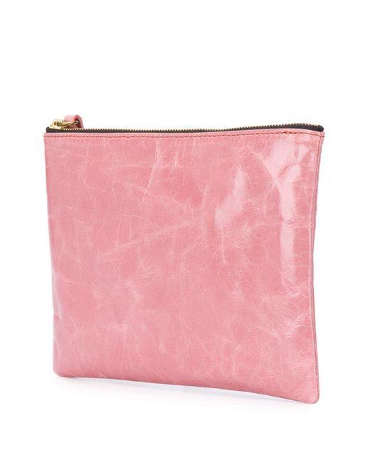 Isabel Marant テクスチャード クラッチバッグ Pink