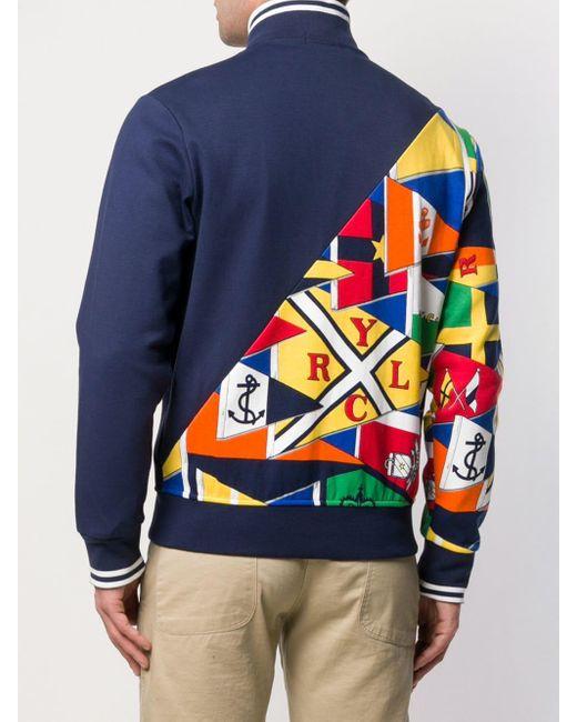 Veste zippée imprimée Polo Ralph Lauren pour homme en coloris Blue