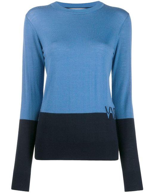 Victoria, Victoria Beckham カシミア ロゴ セーター Blue