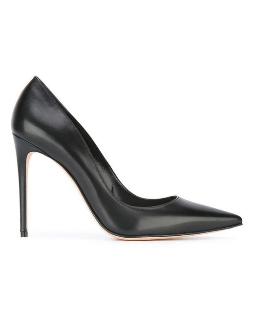 Alexander McQueen - Black Pointed Toe Pumps - Lyst