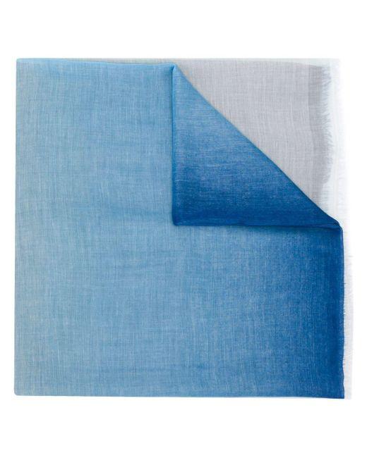 Faliero Sarti フレイドエッジ スカーフ Blue