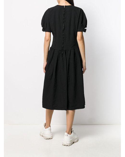 Comme des Garçons プリーツ シフトドレス Black