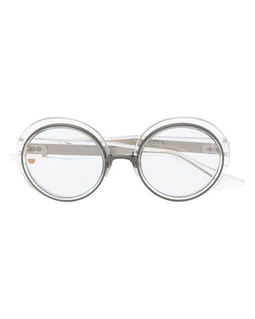 Dita Eyewear ラウンドフレーム サングラス Brown
