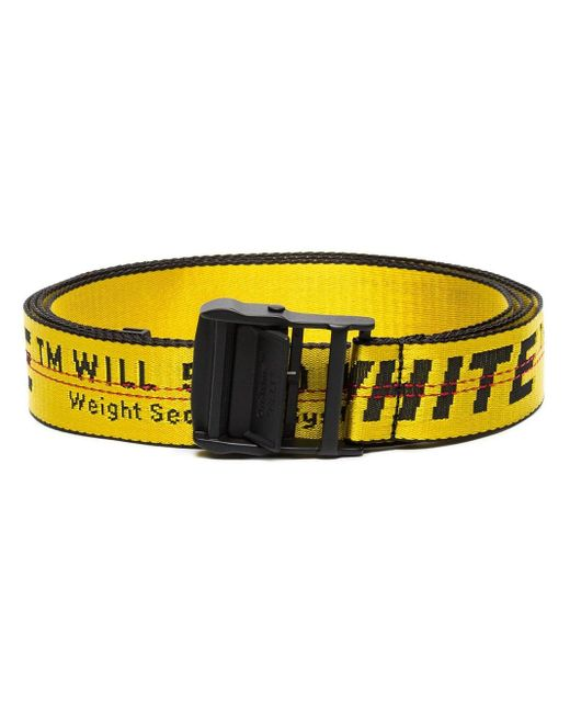 Women's Yellow Industrial Logo Belt