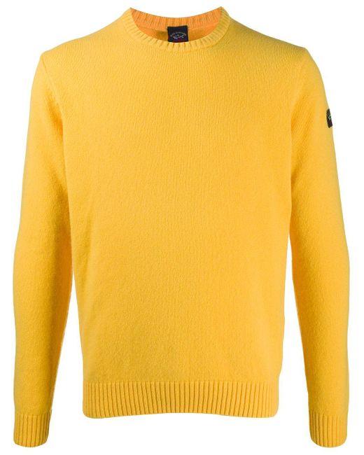 メンズ Paul & Shark クルーネック プルオーバー Yellow