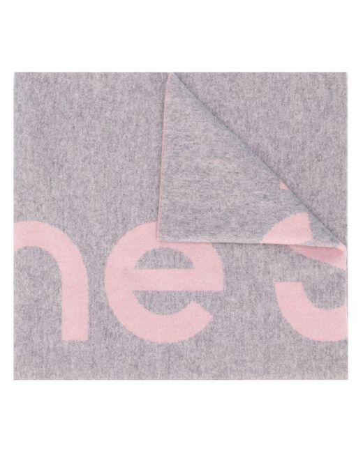 Acne ロゴ ジャカード スカーフ Pink