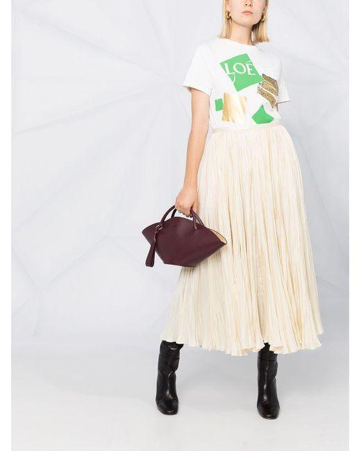 Jil Sander サテン プリーツスカート Multicolor