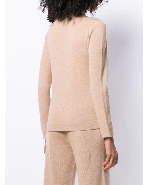 Agnona ラウンドネックセーター Natural