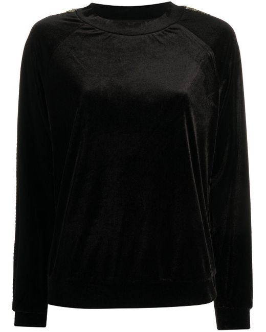 Emporio Armani スパンコール スウェットシャツ Black