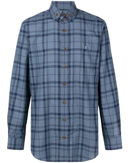 Vivienne Westwood Blue Tartan Shirt for men